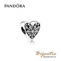 Pandora шарм СЕРДЦЕ ЗИМЫ #791996CZ серебро 925 Пандора оригинал