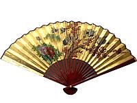 Декоративный веер золотистый
