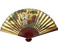 Бамбуковый веер с шелком