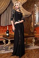 Элегантное вечернее платье черного цвета