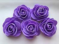 Роза 5 см. Сиреневая