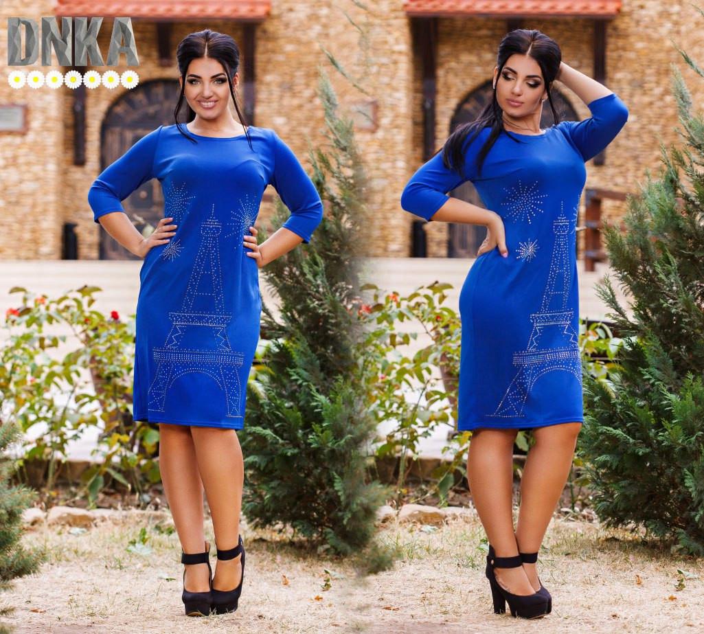 Женское платье батал 724.1  Париж, фото 1