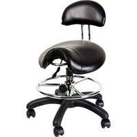Стул седло для мастера маникюра, для косметолога, для наращивания ресниц ZD-2110, черный