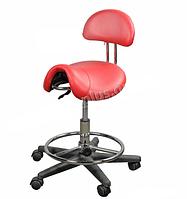 Ортопедический стул для мастера ZD-2110, красный