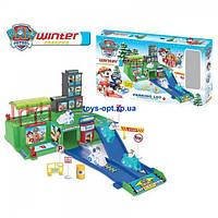 Игровой набор гараж детский Щенячий патруль Зимняя парковка ZY-639