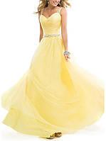 RSG-888-2 Выпускное шифоновое платье в желтом