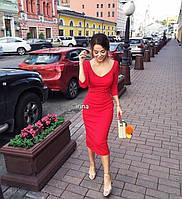 Платье Трикотаж Цвет красный, электрик, бордо и бутылка Отличное качество по лучшей цене👍 испос №068-160