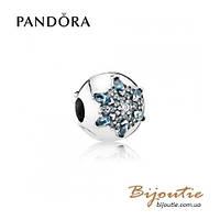 Шарм-клипса КРИСТАЛЬНАЯ СНЕЖИНКА Pandora #791997NMB серебро 925 Пандора оригинал