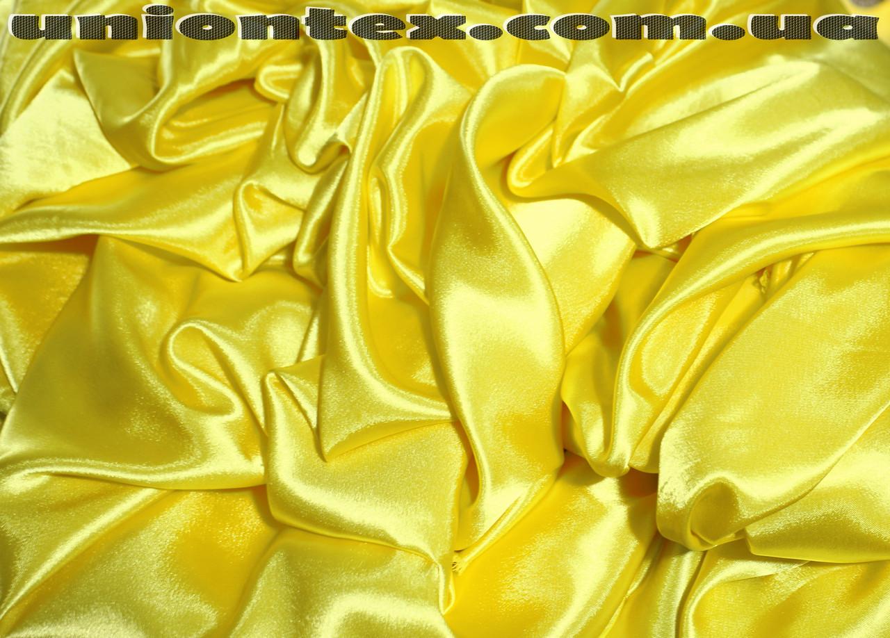Креп-сатин желтый