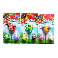 """Рогатка """"Angry Birds"""", 20,5см, фигурки, пищалки 3шт, 3вида, на планш. 21*36,5*5,5см (72шт)"""