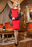 Модное, красное платье из трикотажа