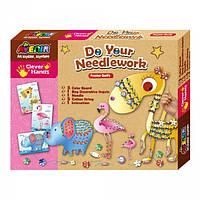 Набор для вышивания Avenir Clever Hands Do your Needlework Animals, Bino