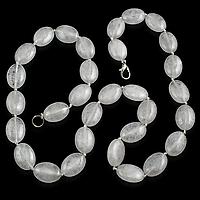Гірський кришталь - кварц, овали, намисто, 169БСХ