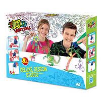 Набор для детского творчества с 3D-маркером – ДИЗАЙНЕР (3D-маркер - 8 шт, шаблон, аксессуары)