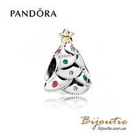 Pandora Шарм ПРАЗДНИЧНОЕ ДЕРЕВО #791999CZRMX серебро 925 Пандора оригинал