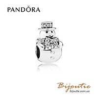 Pandora Шарм СНЕГОВИК #792001CZ серебро 925 Пандора оригинал