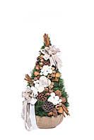 Елка искусственная средняя с природными украшениями, 95 см, (handmade)/