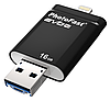 PhotоFast i-Flashdrive EVO Plus 16Gb for Apple Lightning/Micro USB Black (IFDEVO16GB)