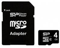 MicroSDHC 4GB Silicon Power Class 4+adapter (SP004GBSTH004V10-SP)