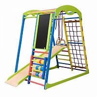 Детский спортивный игровой комплекс для дома с горкой, рукоходом, счетами, кольцами ТМ SportBaby