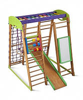 Игровой детский спортивный комплекс для дома «Карапуз» с горкой, мольбертом, рукоходом, счетами, кольцами ТМ SportBaby
