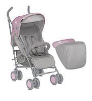 Детская коляска-трость I-MOVE W. FOOTCOVER GREY&PINK от 6 мес. до 3 лет ТМ Lorelli (Bertoni) 10020621