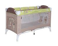 Детская кровать-манеж ARENA 2 LAYERS (сумка, кольца)  ТМ Lorelli (Bertoni) бежевый ARENA 2 LAYERS