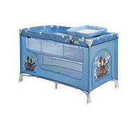 Детская кровать-манеж NANNY 2 LAYER (2 уровня, сумка) ТМ Lorelli (Bertoni)  синий