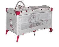 Детская кровать-манеж ARENA 2 LAYERS PLUS (сумка) ТМ Lorelli (Bertoni) серый