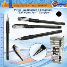 Ручка кулькова масляна Tianjiao №-501P чорна