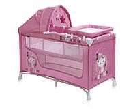 Детская кровать-манеж NANNY 2 LAYER PLUS (пеленатор, козырек с игрушками, матрас) ТМ Lorelli/Bertoni 10080201