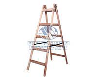 Стремянка-ходуля деревянная двухсторонняя Virastar Hardwork 2x5 ступеней (ДС00001/WSL00001)