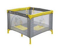 Детская кровать-манеж PLAY STATION (сумка, кольца)  ТМ Lorelli (Bertoni) серый
