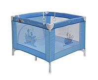 Детская кровать-манеж PLAY STATION (сумка, кольца)  ТМ Lorelli (Bertoni) синий