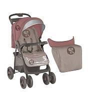 Детская прогулочная коляска FOXY + FOOTCOVER BEIGE&TERRACOTTA от 0 мес. до 3 лет ТМ Lorelli (Bertoni) 10020381