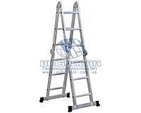 Лестница четырехсекционная алюминиевая бытовая VIRASTAR Acrobat 4x3 ступени 3,46 м (AK011)