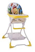 Детский стульчик для кормления BRAVO (ремни, поднос, корзина) ТМ Lorelli/Bertoni  белый/желтый