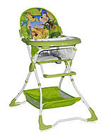 Детский стульчик для кормления BRAVO (ремни, поднос, корзина) ТМ Lorelli/Bertoni зеленый
