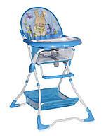 Детский стульчик для кормления BRAVO (ремни, поднос, корзина) ТМ Lorelli/Bertoni  синий