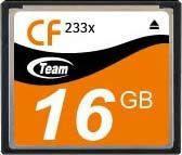 Карта памяти Team CompactFlash 16GB 233x (TCF16G23301)