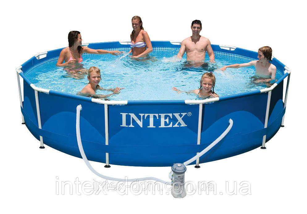 Каркасный бассейн Intex 28212, (366x76 см), ( Картриджный фильтр-насос 2006 л/ч)