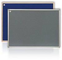 Доска настенная текстильная серая 100х150 см в алюминиевой рамке S-line ABC Office 151015
