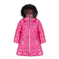 Зимнее пальто для девочки 3 лет р. 98 ТМ Deux par Deux P 920-647