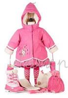 Зимнее термопальто для девочек 4, 6-7 лет (пальто, шарфик, рукавички) ТМ Deux par Deux A905-642