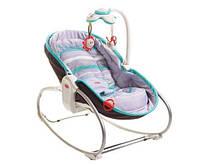 Кресло - кроватка - качалка 3 в 1 «Мамина любовь» (серо-голубое) для детей с рождения ТМ Tiny Love 1802606130