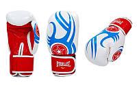 Перчатки боксерские кожаные на липучке EVERLAST BO-6162-R