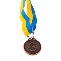 Медаль Бронза 3место D=29мм.