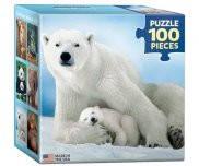 Белая медведица с медвежонком 100 элементов Eurographics 8104-1198