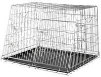 Клетка Trixie транспортная для собак оцинкованная, двойная, 93х68х79 см
