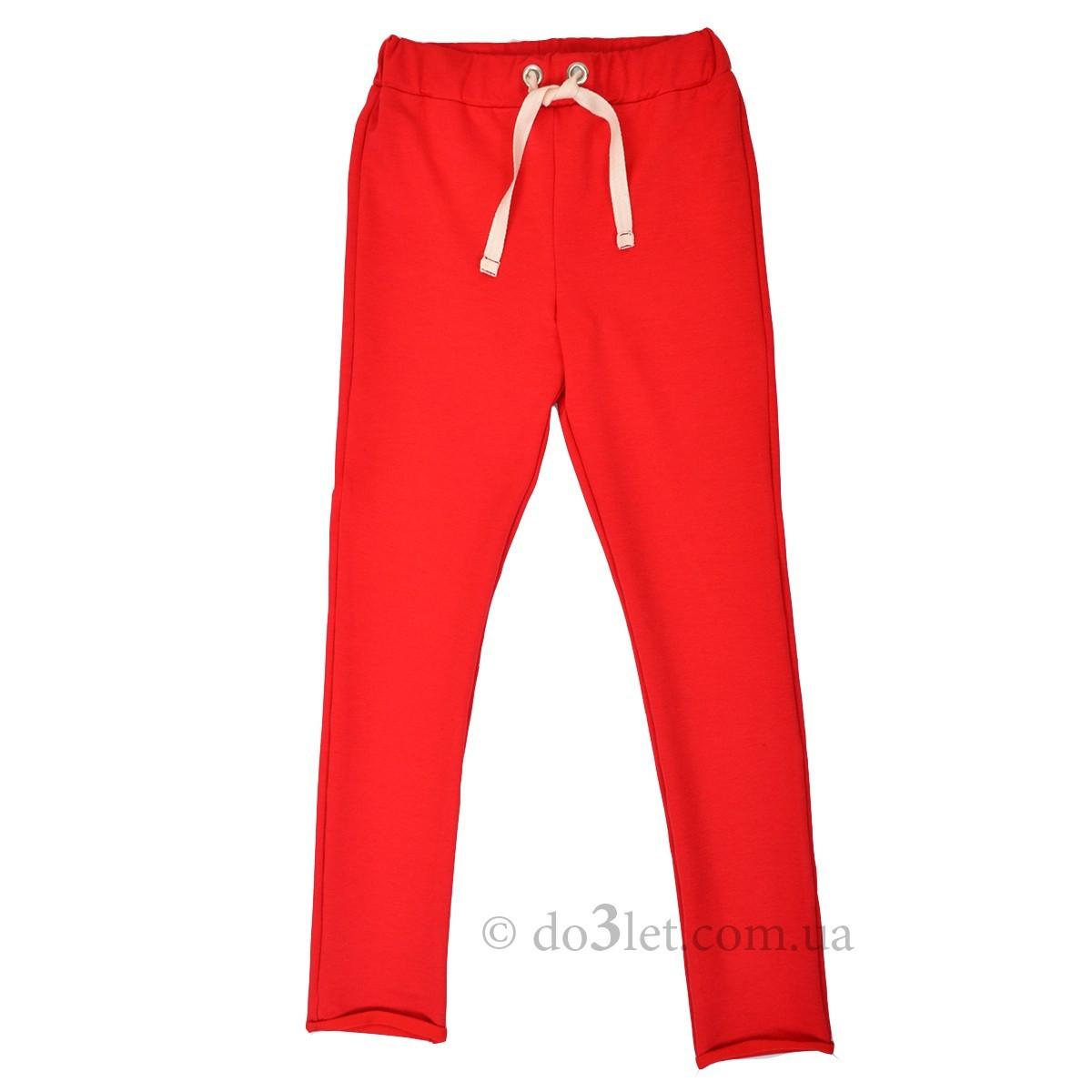 21a6f0e9 Зауженные спортивные штаны для девочки Timbo H025469 р.122 красный -  DetiTop.com -